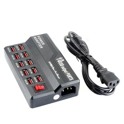 AU29.71 • Buy 5V 12A 10 Port USB Charging Station Hub Multifunction Travel Wall Charger AU