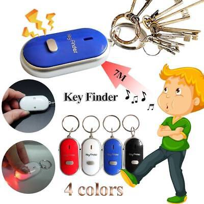 New Led Key Finder Locator Find Lost Keys Chain Keychain Whistle Sound Control • 3.49£