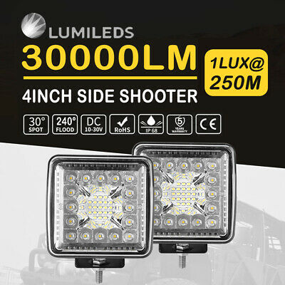 AU37.99 • Buy 4inch LED Light Bar Side Shooter Pods 300W Spot Flood Combo Driving Offroad 5