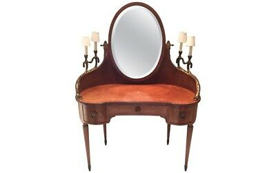 $4950 • Buy Louis XVI Style Inlaid Amboyna And Mahogany Gilt Bronze Mounted Coiffeuse