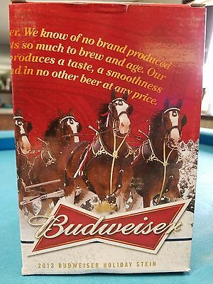$ CDN39.53 • Buy 2013  Anheuser Busch  AB  Budweiser Holiday Christmas Beer Stein Clydesdales NIB