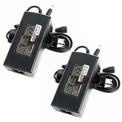 $18.48 • Buy 2PCS 12V 8A 96W Power Supply AC To DC Adapter For 5050 3528 LED Strip Light CCTV
