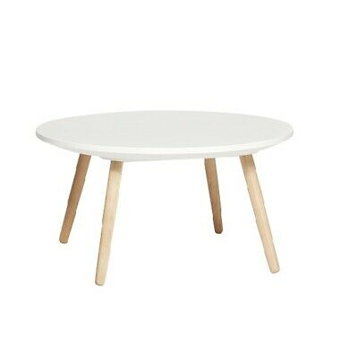 White Round Coffe Table With Concrete Top Made By Hubsch • 185£