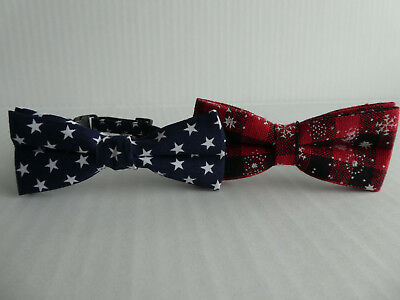 Small Dog, Puppy Bow Tie Collar, Various Colours And Patterns, Christmas, Stars • 2.99£