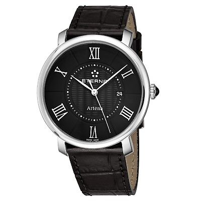 Eterna Women's Artena Black Dial Black Leather Quartz Watch 2510.41.45.1251 • 122.29£