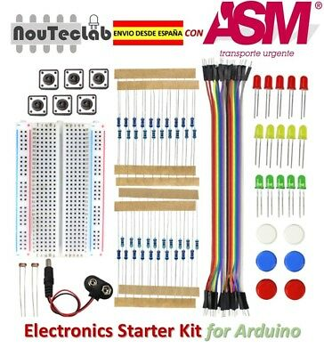 Electronics Starter Kit Breadboard LED Jumper Wire Button For Arduino Uno R3 • 9.61£