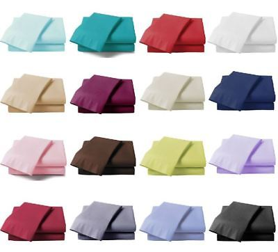 Extra Deep 40cm Fitted Sheet Bed Sheets 100% Poly Cotton Single Double King Size • 3.75£