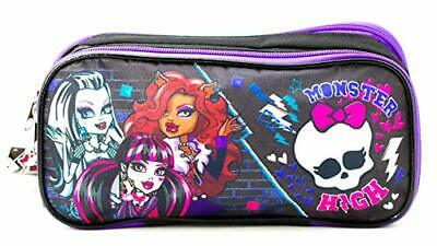 Monster High Fangtastic Pencil Case Holder Bag Pens School Carrying Pouch Black • 6.28£