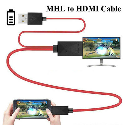 $ CDN11.35 • Buy MHL 11Pin Micro USB To HDMI 1080P HD TV Cable Adapter For Android Samsung Phone