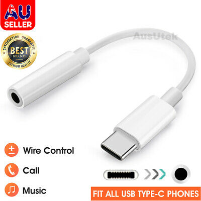 AU6.45 • Buy For Samsung Google USB Type C To 3.5mm Headphone Audio Aux Stereo Cable Adapter