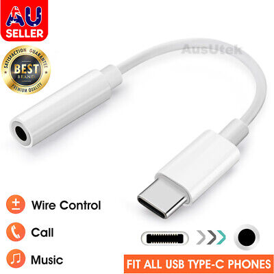 AU7.99 • Buy For Samsung Google USB Type C To 3.5mm Headphone Audio Aux Stereo Cable Adapter