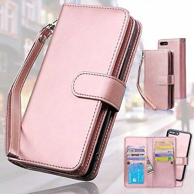 AU23.74 • Buy Leather Wallet Case With Credit Card Holder Slot Zipper For IPhone X Xr Xs Max