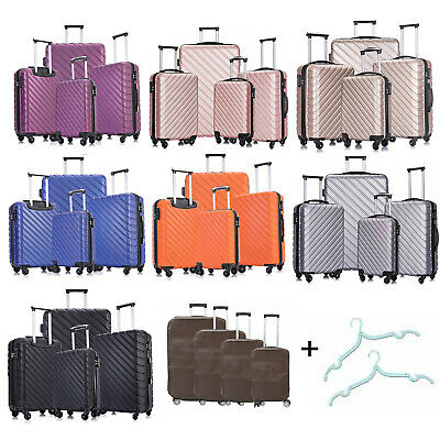 View Details Set Of 3/4/5 Travel Luggage Sets Carry On Hardshell ABS Spinner Trolley Suitcase • 99.59$