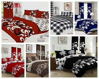 £24.99 • Buy King Size 4 Pcs Complete  Bedding Set - Duvet Cover Fitted Sheet 2 Pillow Cases