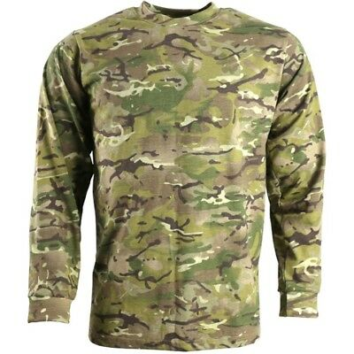 £14.99 • Buy Mens Army Long Sleeved T-shirt S-3xl Mtp Btp Camouflage Top Camo Airsoft Cadet