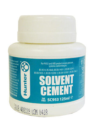£8.95 • Buy 125ml Solvent Weld Glue - Pond Pipe Cement, Quick Drying Adhesive, Koi Pond