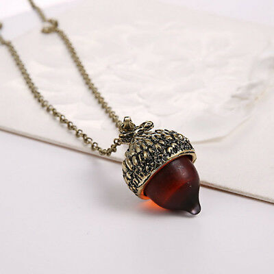 Antique Winter Acorn Pine Cone Pendant Choker Necklace Charm Jewelry Gift G • 1.63$
