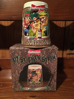 $ CDN15.93 • Buy 1997 Budweiser St Patrick's Day Luck O The Longneck Stein