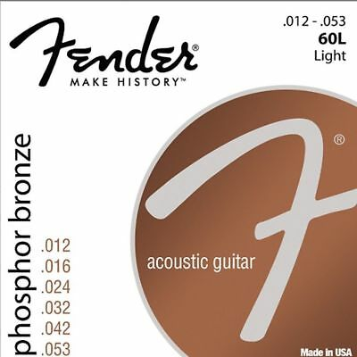 $ CDN5.16 • Buy Fender 60L Phosphor Bronze Light Acoustic Guitar Strings 012-053
