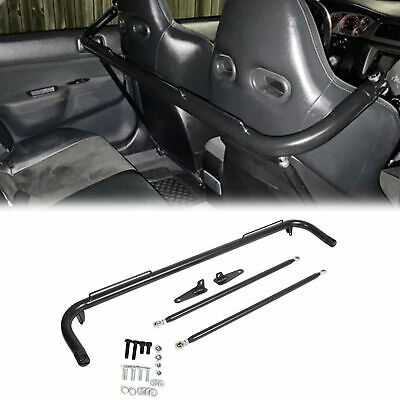 $81.50 • Buy 49  Black Universal Stainless Steel Racing Safety Seat Belt Roll Harness Bar Rod