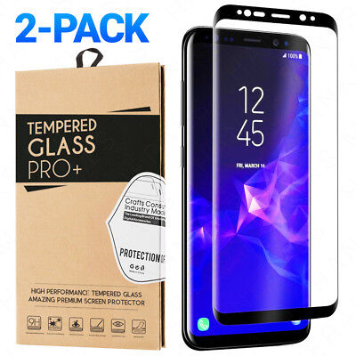$ CDN11.34 • Buy 2-Pack Tempered Glass For Samsung Galaxy S8 S9 Plus Note 8 9 Screen Protector