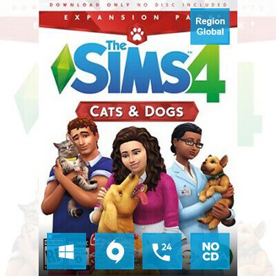 AU33.50 • Buy The Sims 4 Cats & Dogs Expansion Pack DLC For PC Game Origin Key Region Free