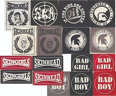 SKINHEAD S.H.A.R.P. Oi! SKA BAD BOY  SKINGIRL BAD GIRL TROJAN Patches   Punk  • 2.99£
