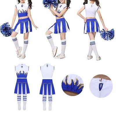 £12.31 • Buy High School Girls Musical Cheerleader Uniform Costume Carnival Party Outfit