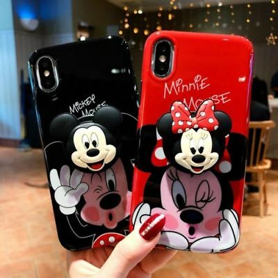 AU7.98 • Buy For IPhone 12 11 Pro Xs Max X 7 Mickey Minnie Disney Winnie Holder Glossy Case