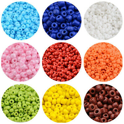 £2.49 • Buy Multicolor Beading Glass Pony Beads 2/3/4mm Small Opaque Round Bead Supplies