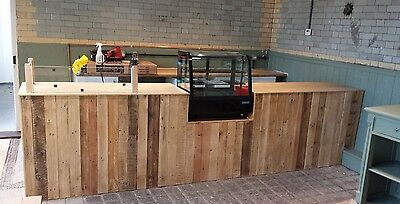 Handcrafted Counter Rustic Industrial Bar Cafe Office Coffee Shop Restaurant  • 99£