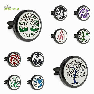 AU4.75 • Buy 30mm Alloy Black Aromatherapy Essential Oil Diffuser Locket Clip For Car Office