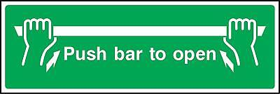 £1.49 • Buy Push Bar To Open Emergency Door Safety Sign