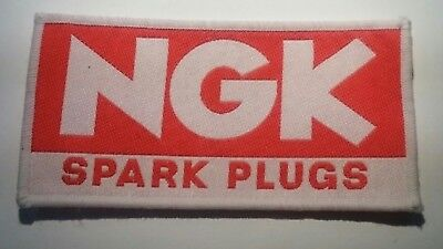 Ngk Spark Plugs Motor Racing Motorcycle Embroidery Badge  Sew On Patch Red • 2.35£