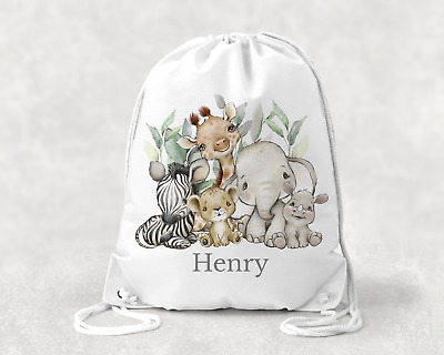Mario Personalised Kids Girls Boys Drawstring Bag - School Swimming & More • 8.99£