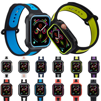 $ CDN8.36 • Buy For Apple Watch Silicone Band Strap TPU Case Cover IWatch Series 4/3/2/1 38-44mm