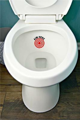 Aim Here Toilet Training Potty Funny Kids Bathroom Wall Art Sticker Decal • 1.99£