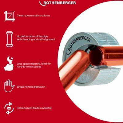 £3.90 • Buy Rothenberger Pipeslice 15mm - 22mm - 28mm   Cutter Wheel Copper Pipeslice