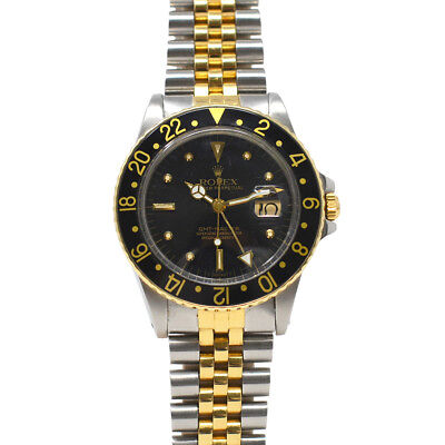 $ CDN12615.27 • Buy Rolex 16753 Nipple Dial Two Tone GMT- Master Jubilee Bracelet Watch