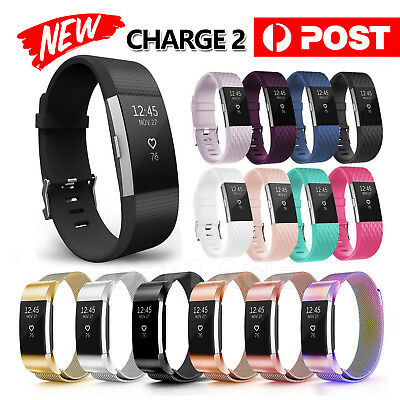 AU4.55 • Buy Replacement Silicone Gel Band Strap Bracelet Wristband For Fitbit Charge 2 Sport