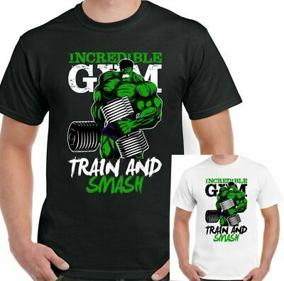 Incredible Hulk T-Shirt Gym Mens Training Top Bodybuilding MMA Fitness The Tee • 7.99£