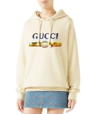 d32d321972160 Gucci Hoodie Sequin Gucci Logo Womens Retail 1900  • 1