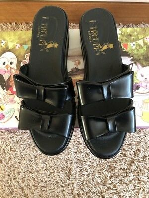 £43 • Buy  F.Troupe Black Patent Leather Sandals Size 3 (36)