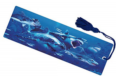 £2.93 • Buy Shark Attack Moving 3D Hologram Bookmark With Tassel Book Place Holder 15 X 5 CM