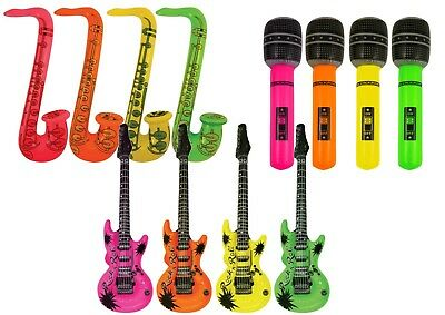 Inflatable Music Instruments Guitar Microphone Saxophone Neon Picture Frame LOT • 1.95£