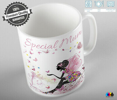 Personalised Fairy Mug Cup Coffee Birthday Gift Aunt Mum Grandma Daughter • 8.99£