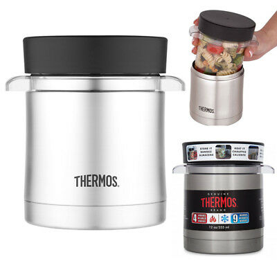 AU33.99 • Buy THERMOS 355ml Stainless Steel Vacuum Insulated Sleeve With Microwavable Food Jar