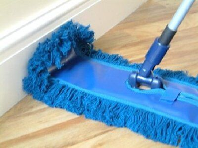 Waxed Floor Duster Sweeper Extendable Handle To 1.2m Flexible Home Valet  80332 • 15.75£