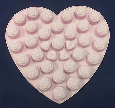Hearts Shaped Love Roses Silicone Mould Wax Melts Chocolates Mold Flowers • 3.99£