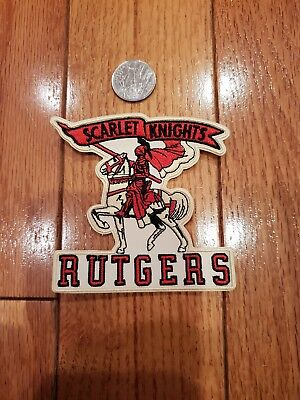 "$5.65 • Buy RUTGERS University Scarlet Knights Embroidered Iron  On Patch 3.5"" X 3.5"""